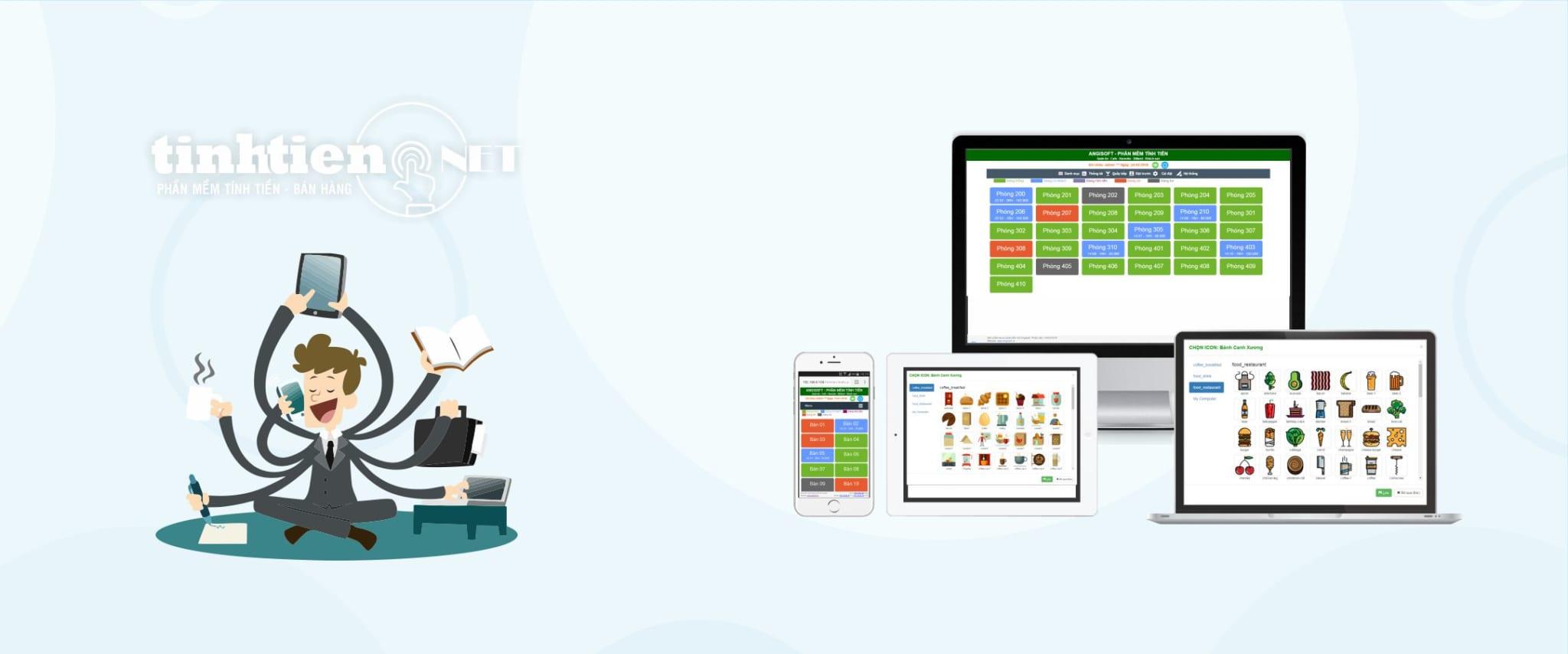 phần mềm quản lý tính tiền Quán Cafe – Nhà hàng – Khách sạn – Karaoke